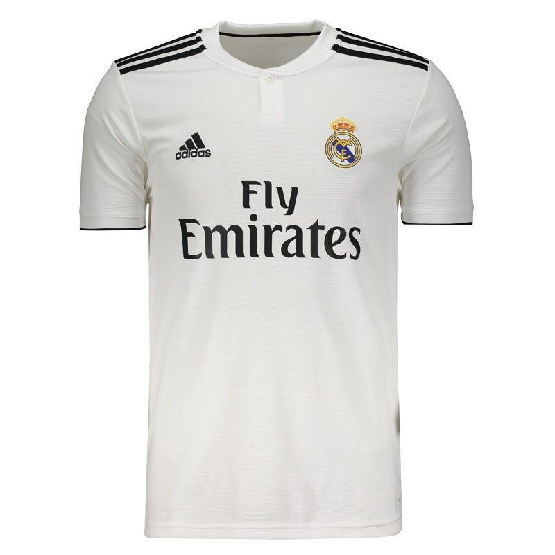 Camisa Real Madrid 2018  2019 Original Torcedor Importada - R  169 ... ad6b37c6ca9ae