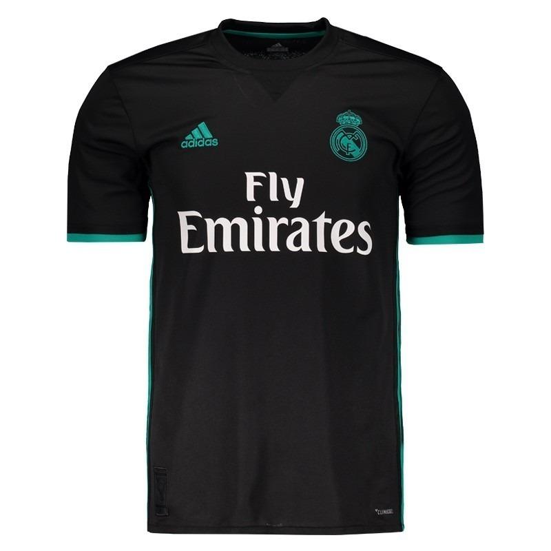 88927d19b3b45 camisa real madrid cristiano ronaldo - cr7 nova preta 2018. Carregando zoom.