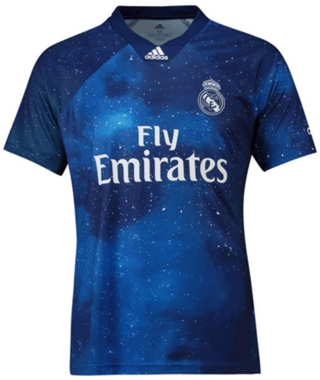 84f24f55d Camisa Real Madrid Ea Sports 2018 2019 Frete Grátis - R  120
