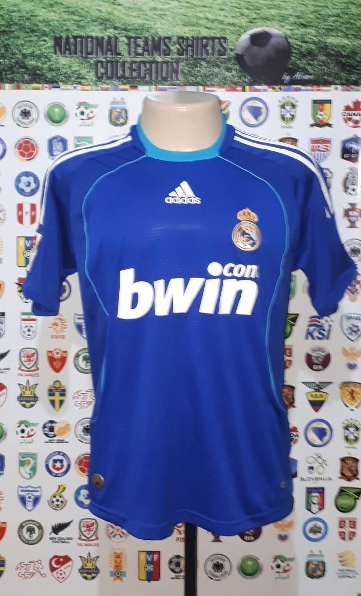 camisa real madrid espanha 2008 away adidas tam p. Carregando zoom. b940b173d21b4