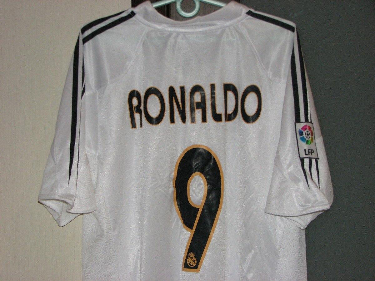 camisa real madrid espanha adidas  9 ronaldo 2004 2005. Carregando zoom. f90b976c25eac