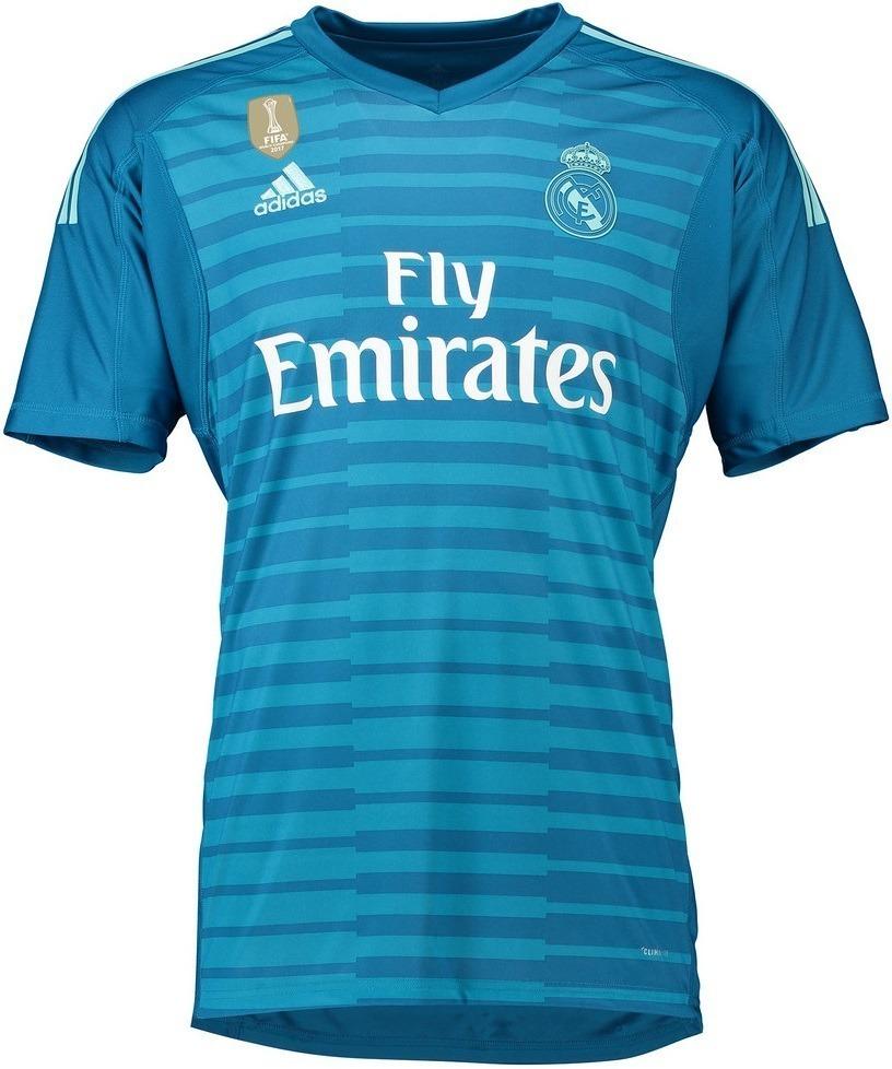 camisa real madrid goleiro azul 2018 2019 frete grátis. Carregando zoom. 23530098c3add