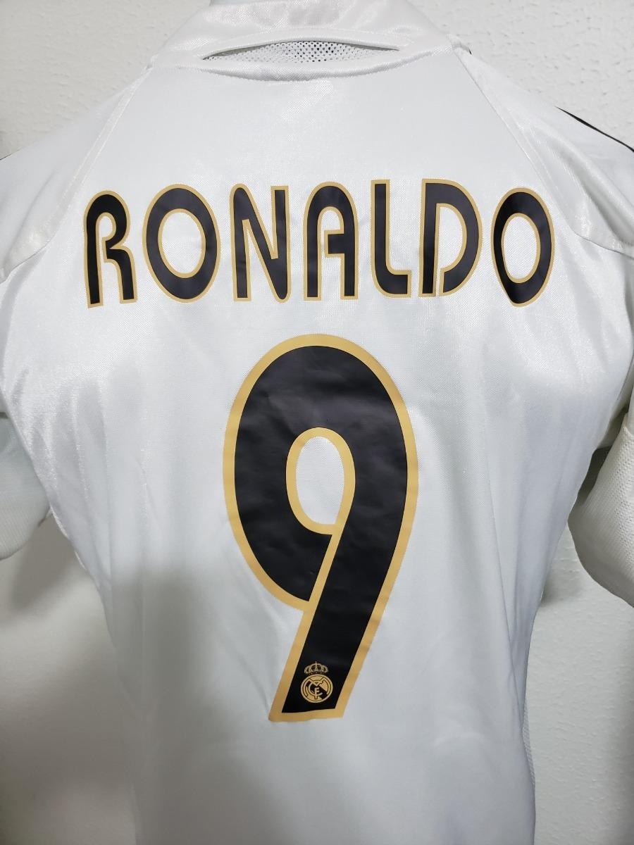 detailed look 214e3 5f04e Camisa Real Madrid Home 04-05 Ronaldo 9 Patch Lfp Importada