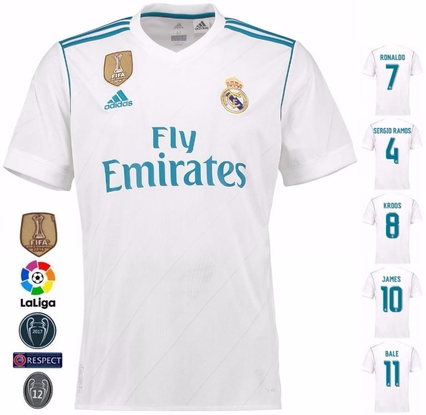 098ea19e camisa real madrid home - uniforme 1 - 17/18 - frete grátis. Carregando zoom .