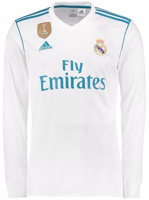 Camisa Real Madrid Manga Longa 2018 - Cristiano Ronaldo Bale - R ... eab55bd34496d