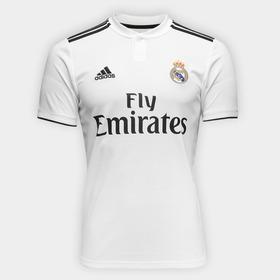 Camisa Real Madrid Oficial Branca 2018 2019 Frete Grátis 7d8c2cfc88cd1