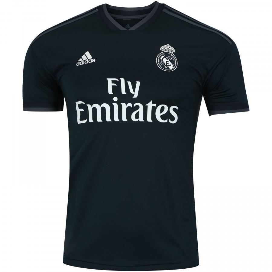 e538be320 camisa real madrid oficial de campo adidas preta oficial. Carregando zoom.