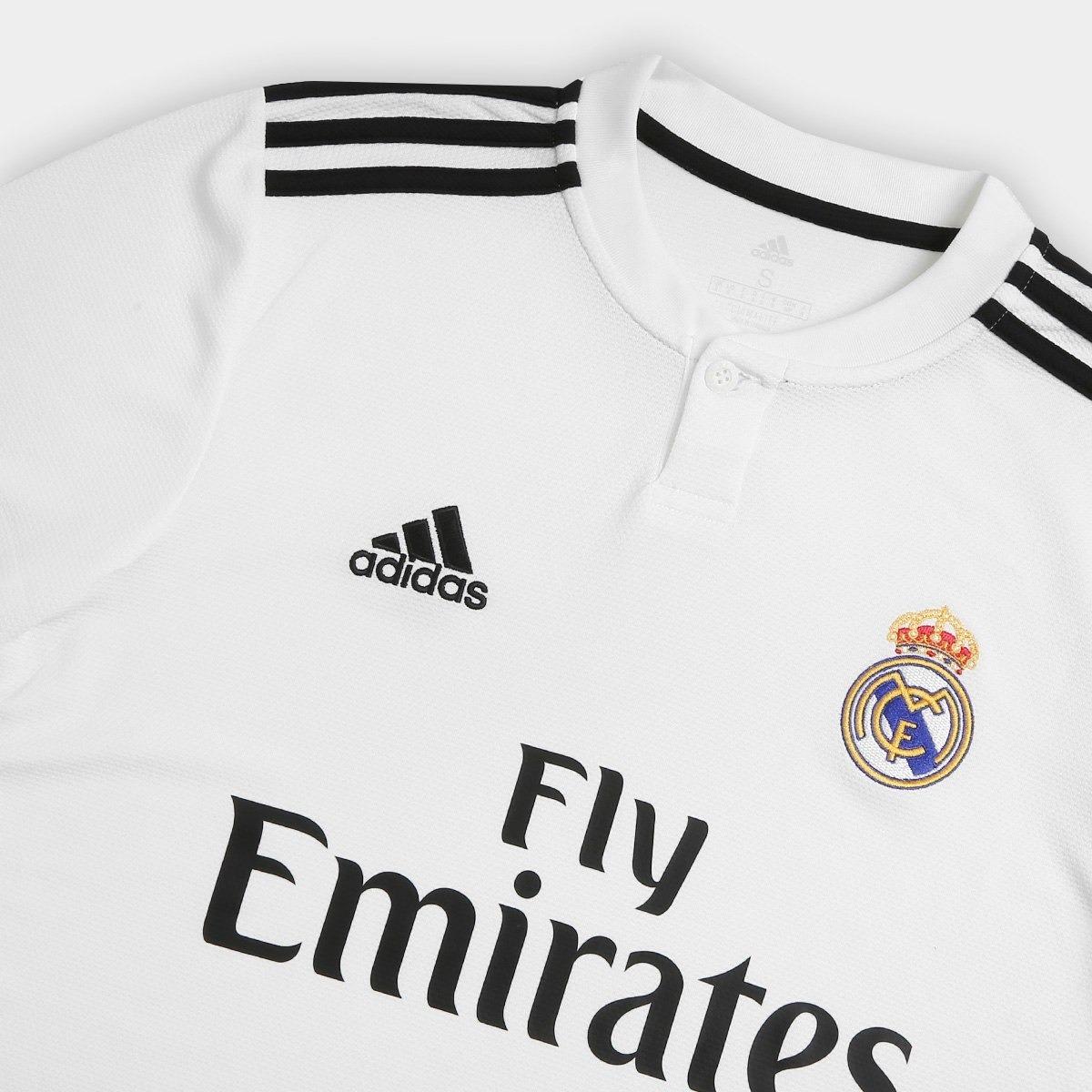 camisa real madrid oficial torcedor 18 19 frete - grátis. Carregando zoom. 6b045ac92bb06