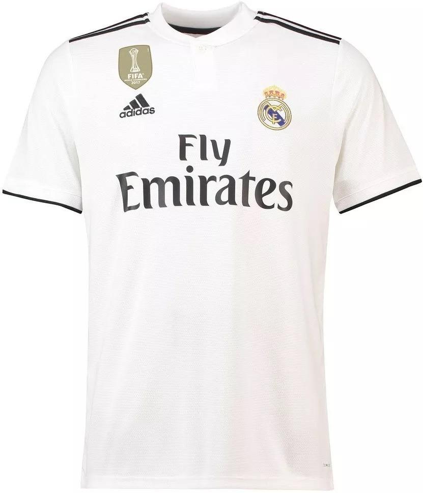 be1b046d2e76b camisa real madrid - uniforme 1 - 2018   2019 - frete grátis. Carregando  zoom.