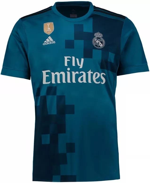 47ea49ba20b6d Camisa Real Madrid - Uniforme 3 - 2017   2018 - Frete Grátis - R ...