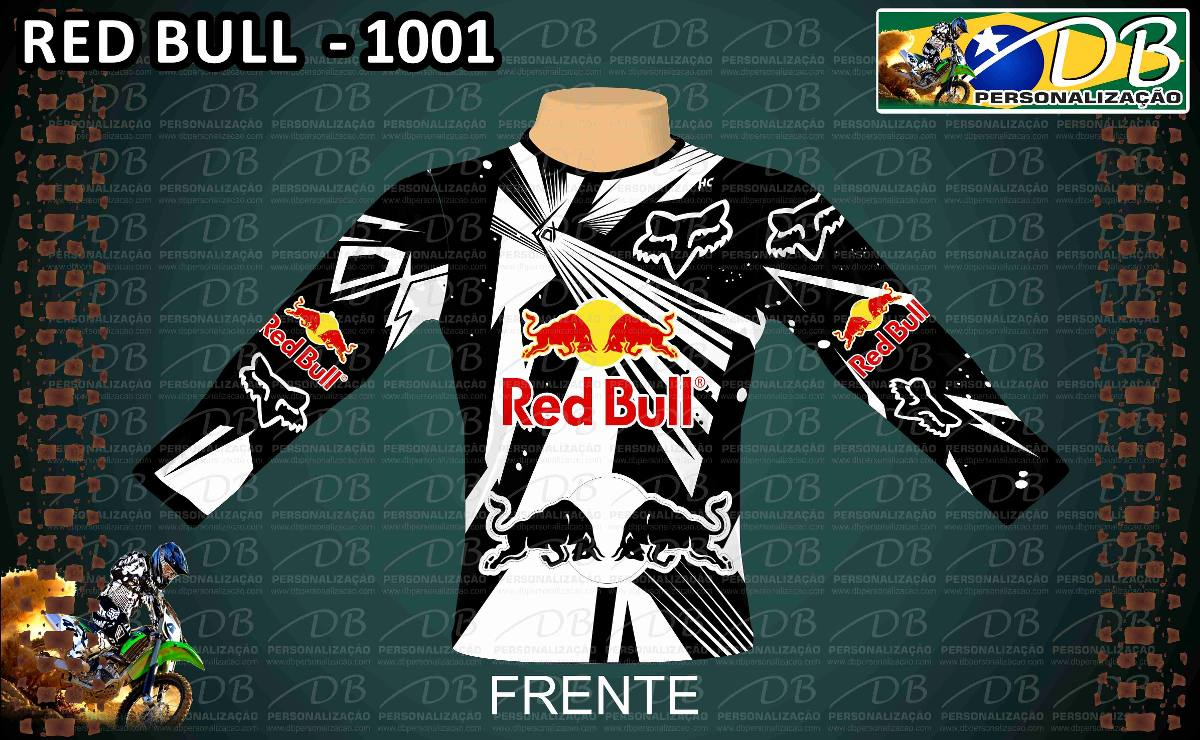 Camisa Red 1001 Off Road Trilha Motocross Personalizada Nome