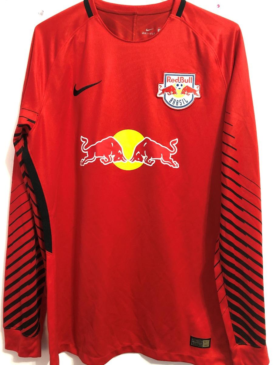 85458bb04c300 Camisa Red Bull Brasil Paulistão 2017 Goleiro De Jogo - R$ 429,90 em ...