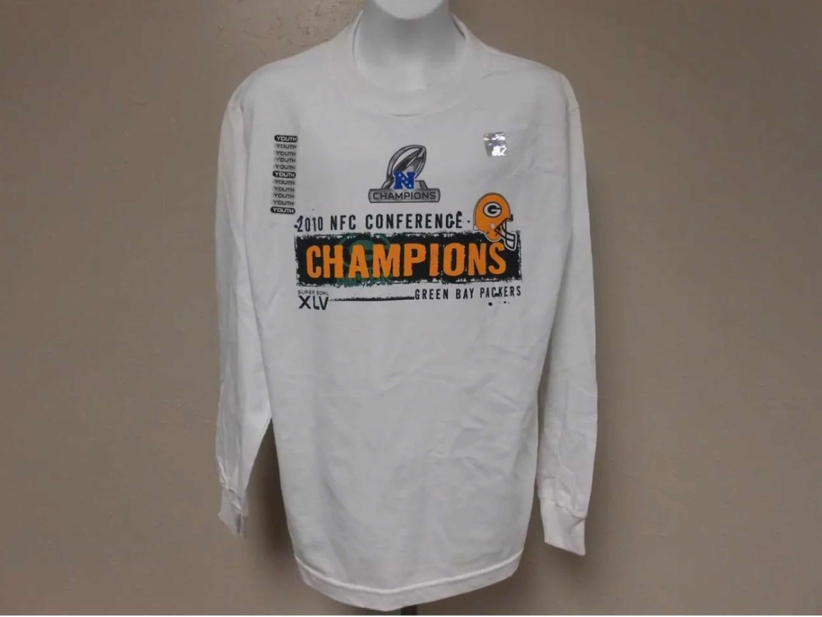 Camisa Reebok Manga Longa Green Bay Packers Campeão Nfc 2010 - R ... c5e5f7ee13004