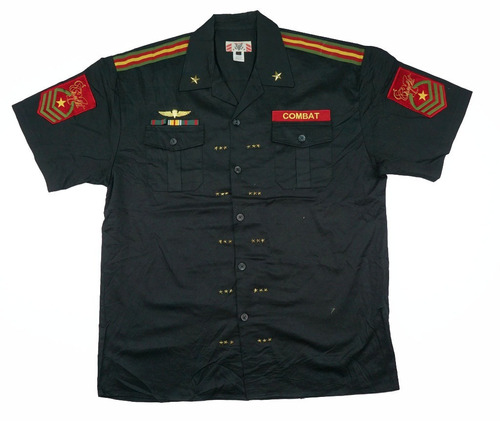 camisa regal military xl  army combat con parches