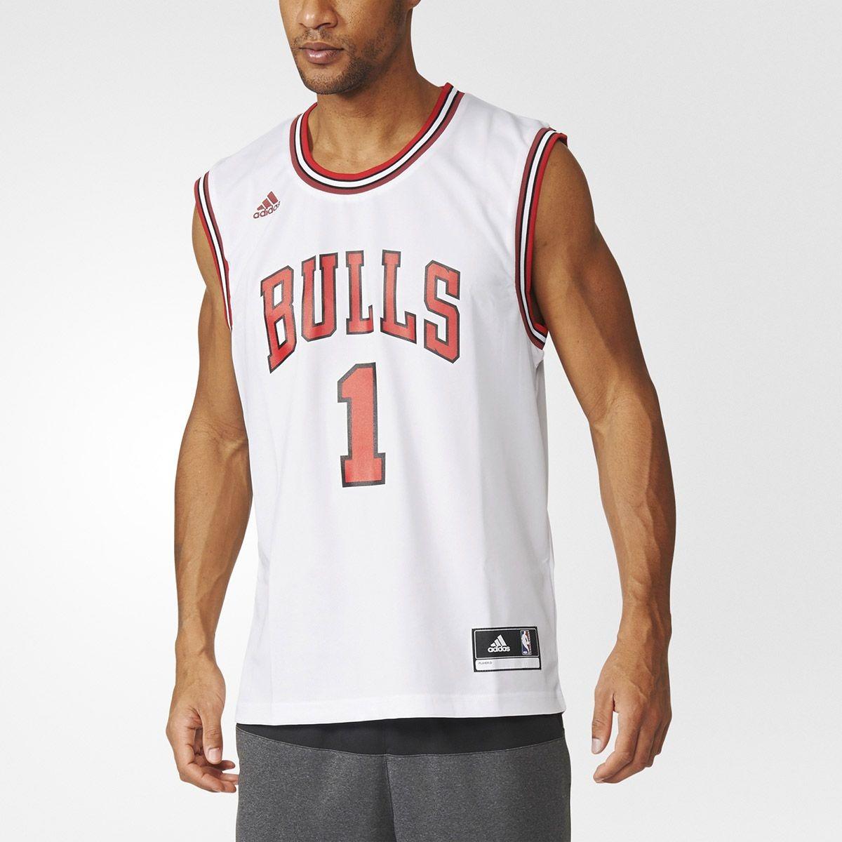c471ef0c25 Camisa Regata adidas Nba Chigaco Bulls Nº1 Rose Original Cnf - R  120