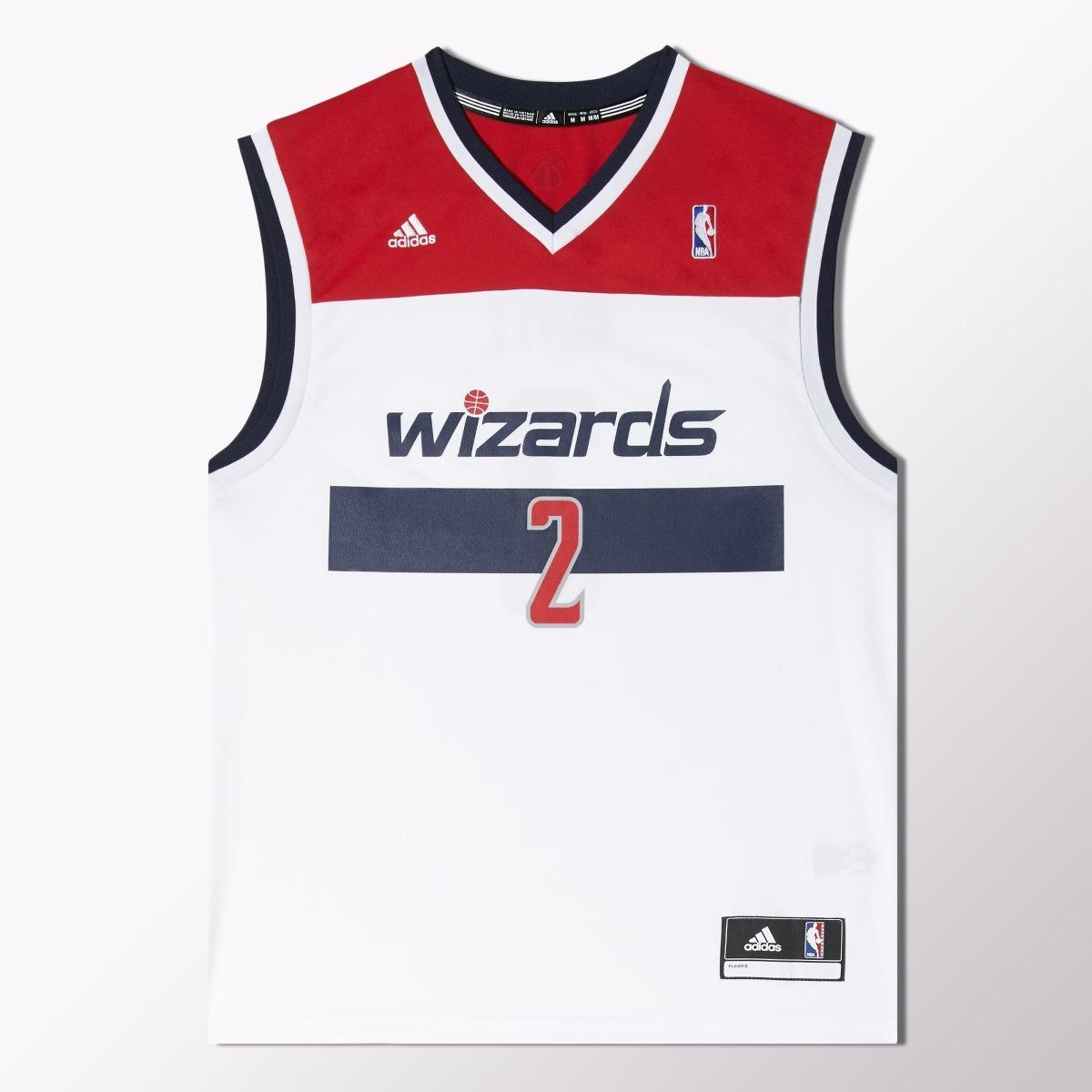 2d2f6318f camisa regata adidas nba washington wizards nº 2 jonh wall. Carregando zoom.