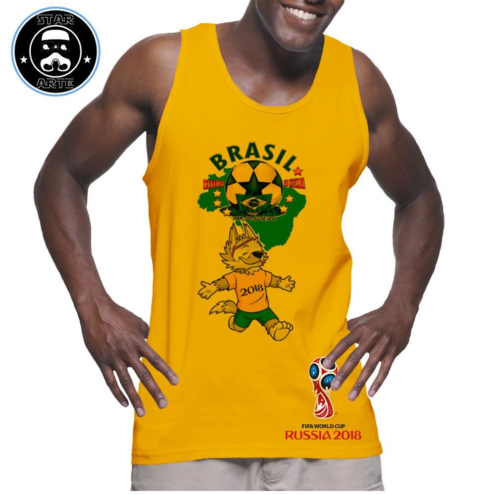 camisa regata amarela brasil copa 2018 personalizada. Carregando zoom. 747024df8bd61