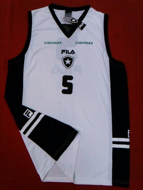 3672636ad21 Camisa Regata Botafogo Nova Oficial Fila Basquete 2011 2012