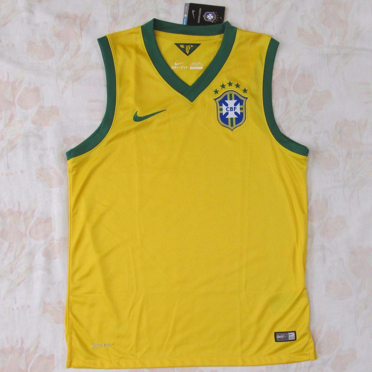 cd8a2b691b979 camisa regata brasil cbf nike home 2014 m original fn1608. Carregando zoom.