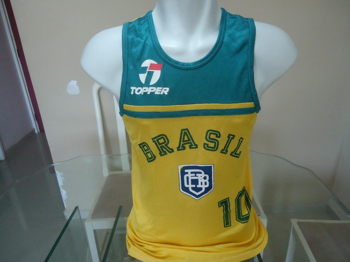 camisa regata brasil topper basquete anos 80 - ( 468 ). Carregando zoom. f49c477e7424e