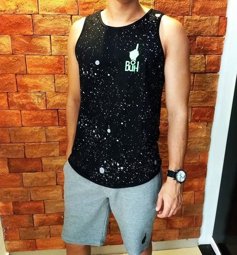 camisa regata buh sport academia jogador longline oversized