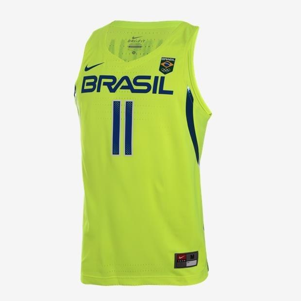 ae4d1ad4f5ce2 Camisa Regata Do Brasil Basquete Nike 11 Varejão-jogador 2xl - R ...