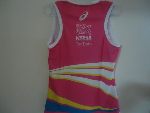 camisa regata feminina  vôlei asics nestlé  2016/2017 - m