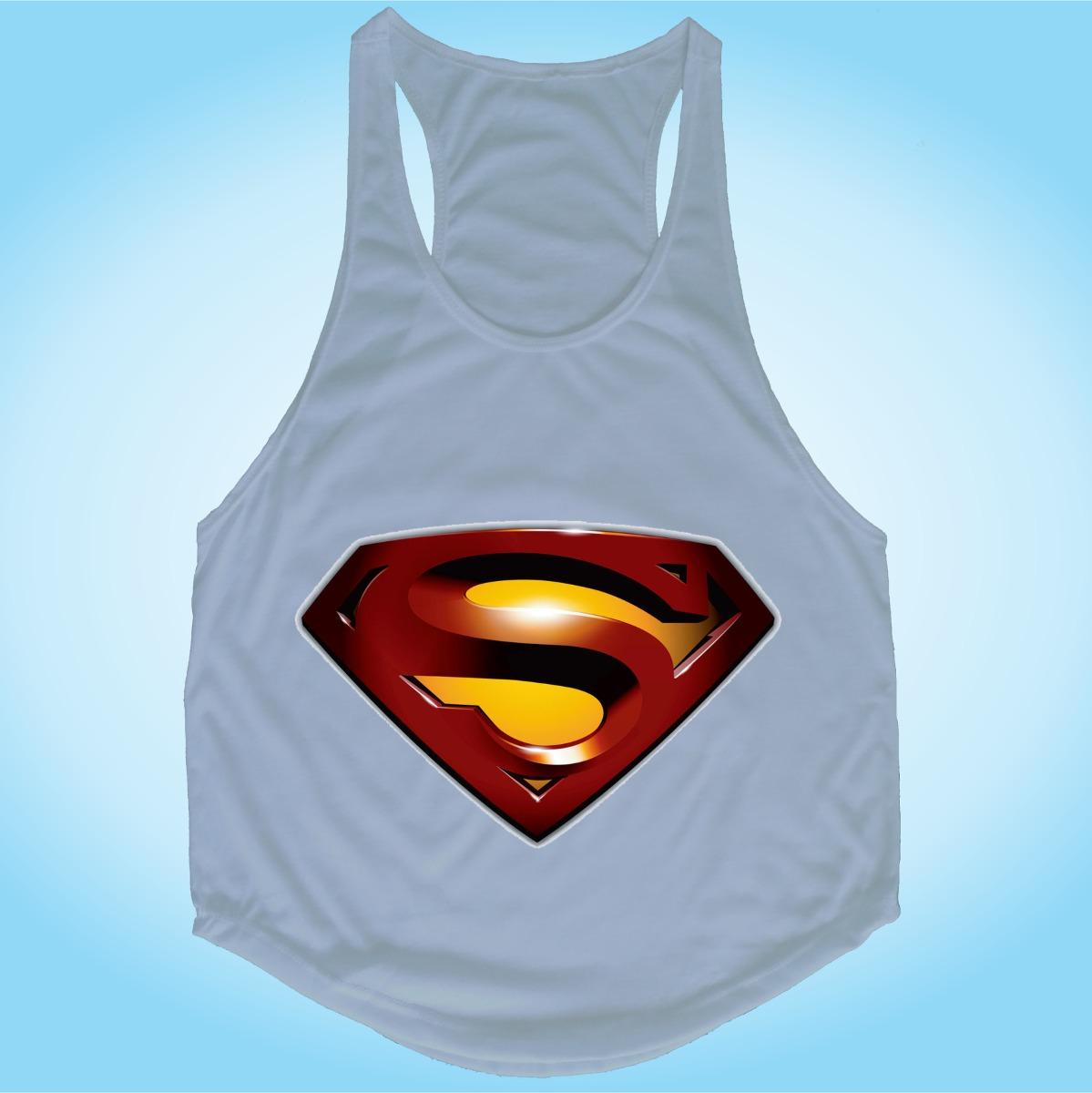 camisa regata fitness superman herói academia malhação gym. Carregando zoom. b52ff9b5622