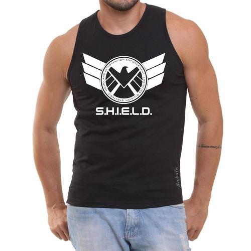 Camisa Regata Marvel Serie Shield Vingadores Promoção Top - R  30 a364cf6cee3
