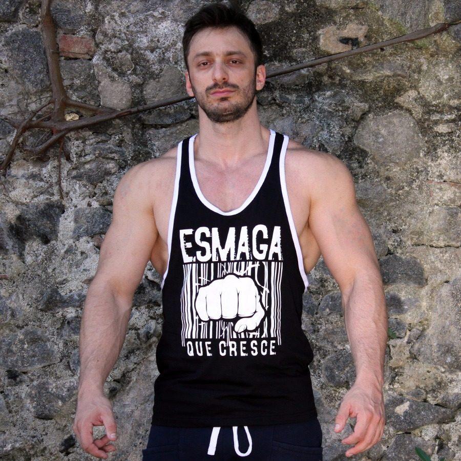 camisa regata musculação fitness crossfit esmaga que cresce. Carregando  zoom. b4c8b1ec41e52