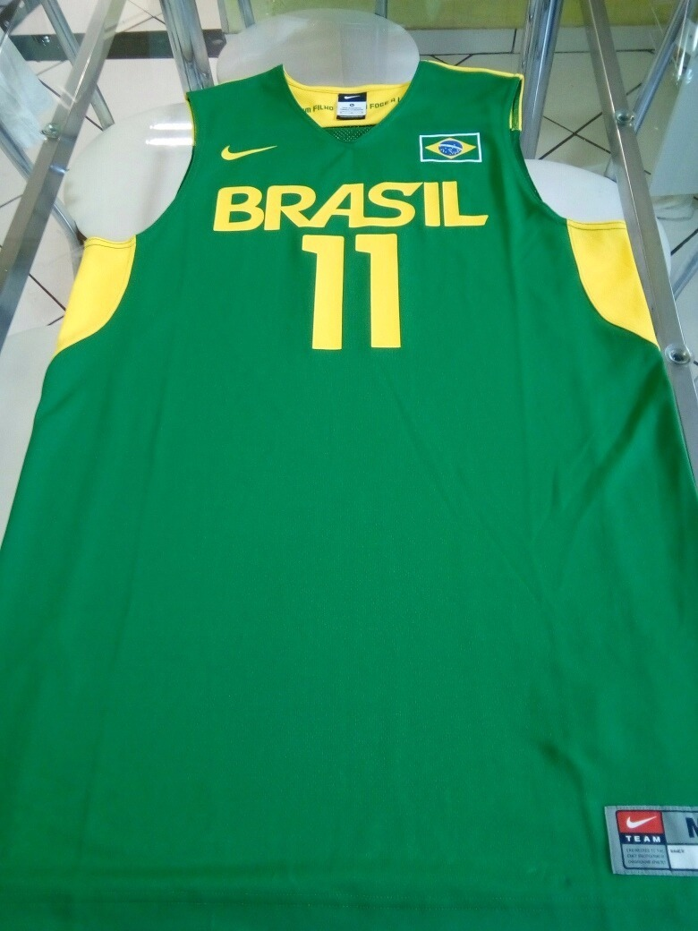 camisa regata seleção brasileira brasil basquete nike jogo. Carregando zoom. a267a480f3422