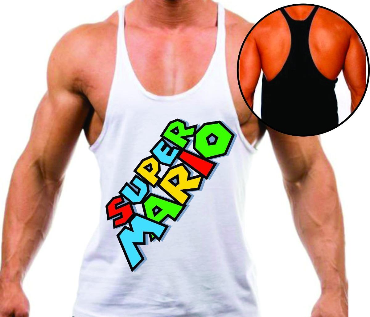 camisa regata super cavada musculação maromba games mario. Carregando zoom. dc51e4f8bd1