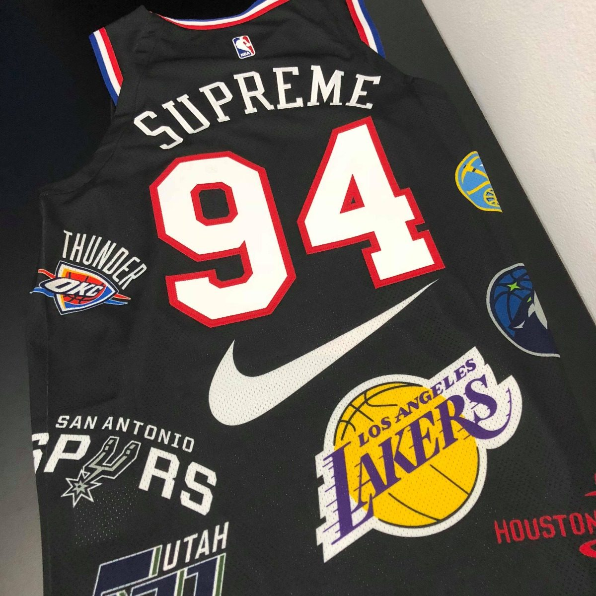 check out e9ca0 af8c4 Camisa Regata Supreme X Nike Nba Jersey