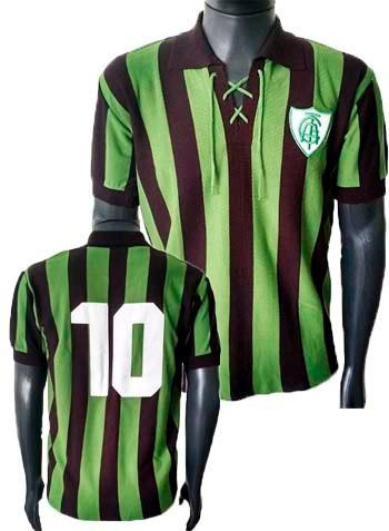 c2ed2e67fa Camisa Retrô América Mineiro Cordinha Blusa Camiseta Coelho - R  89 ...