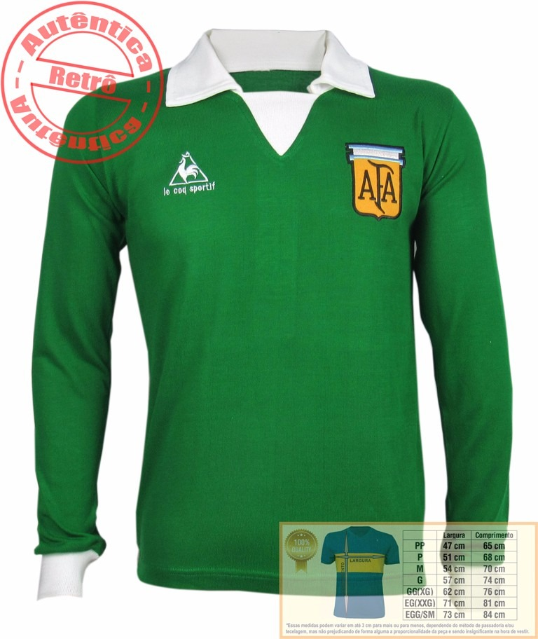2cf33388c5 Camisa Retrô Argentina De Goleiro - R  79