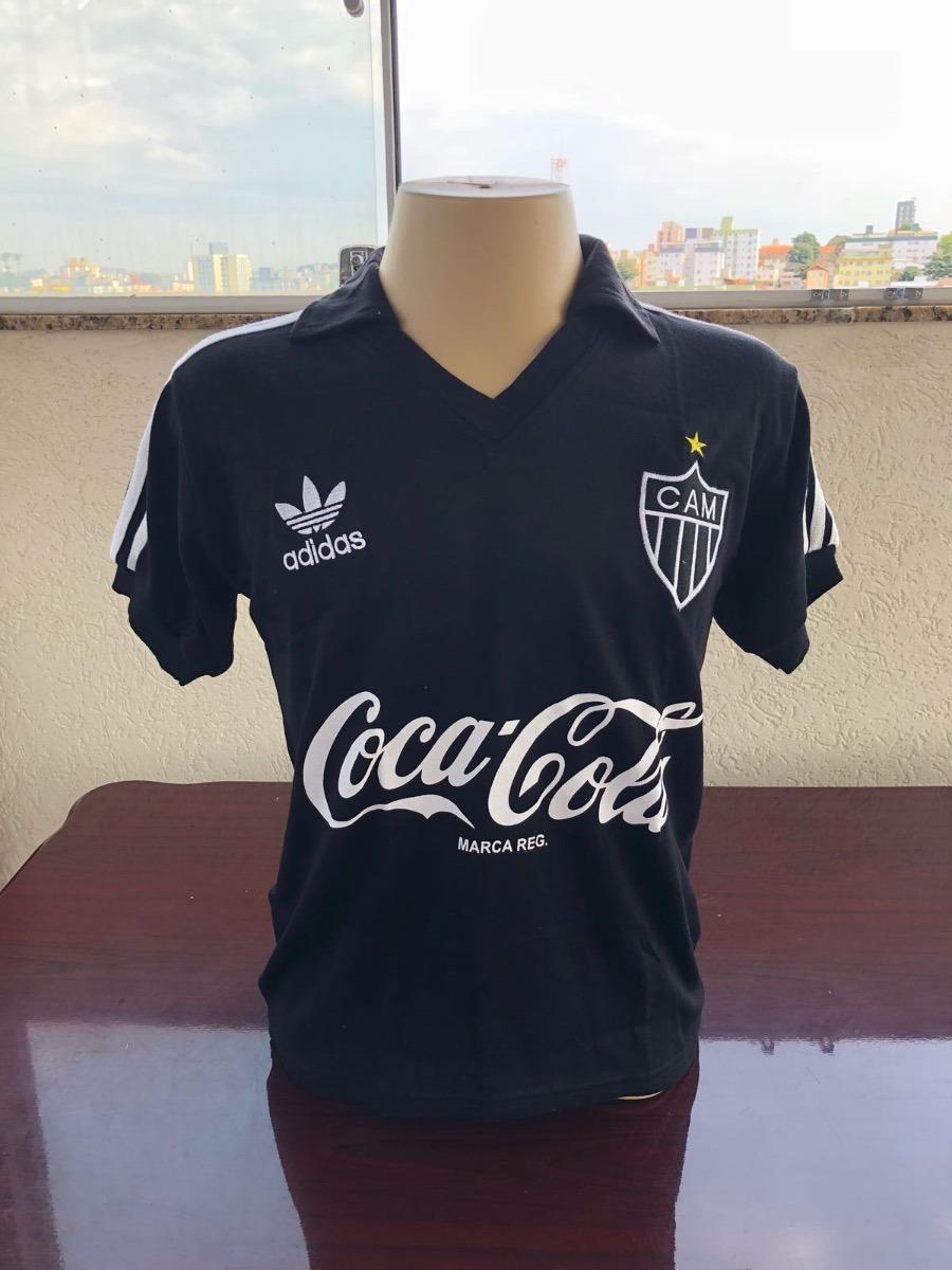 da82edc85c Camisa Retrô Atletico Mineiro 1980 - Masc Coca Cola Preta - R  94