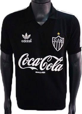 Camisa Retrô Atlético Mineiro 1986 Preta + Nome - R  159 abc6bd9614db7