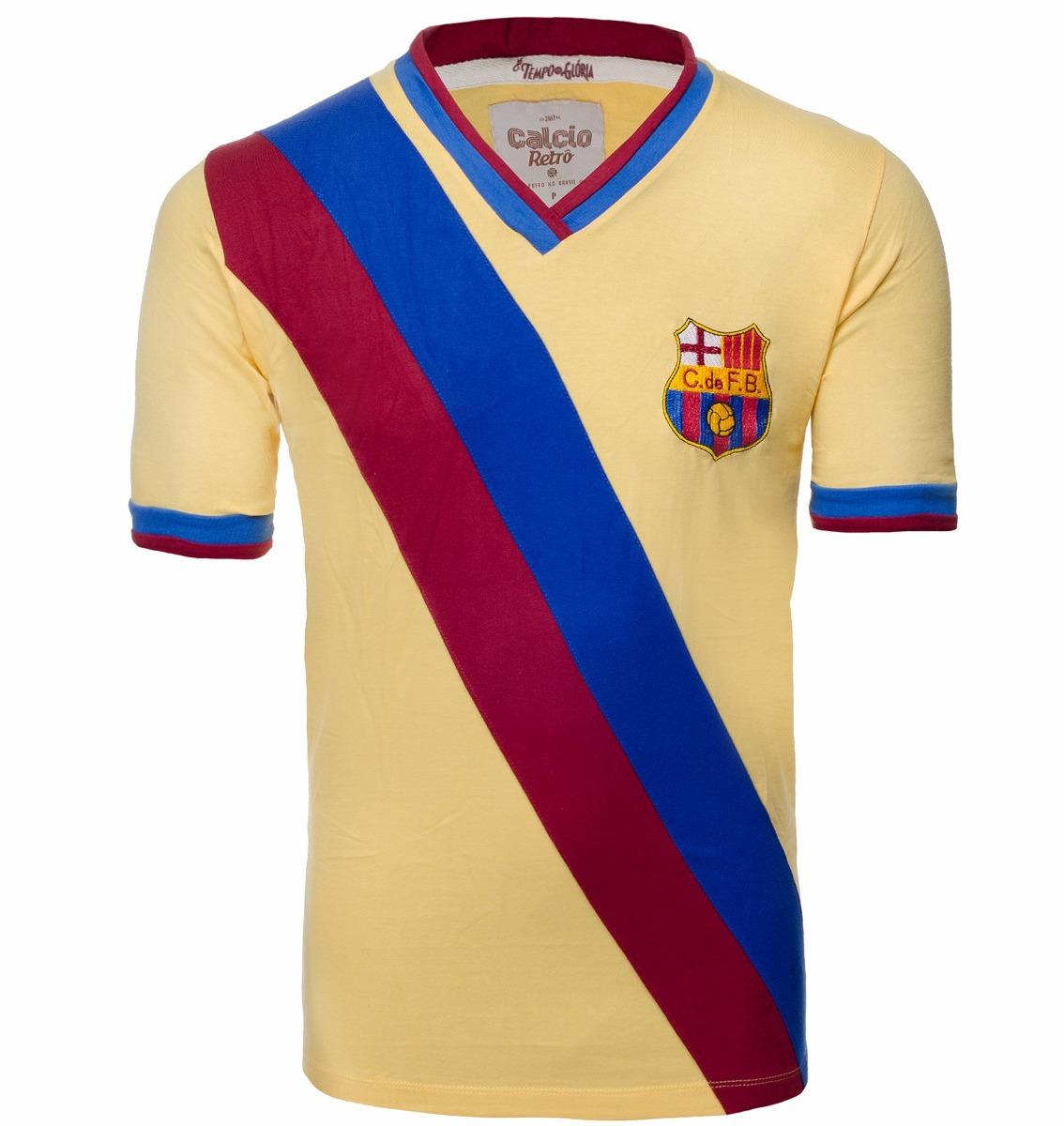 camisa retrô - barcelona faixa. Carregando zoom. 7897b128b1d20