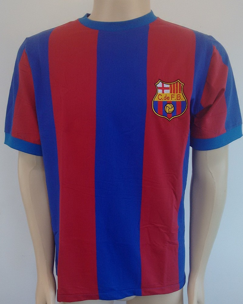 camisa retrô - barcelona listada. Carregando zoom. c54cdcb36a2d1