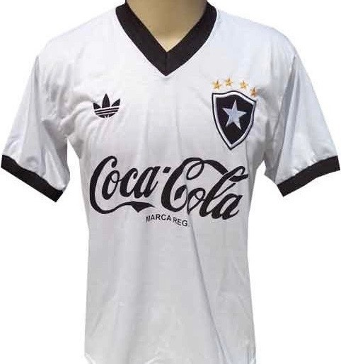 Camisa Retrô Botafogo Anos 80 Branca - Pronta Entrega ! - R  68 5cfdc6a70a90e