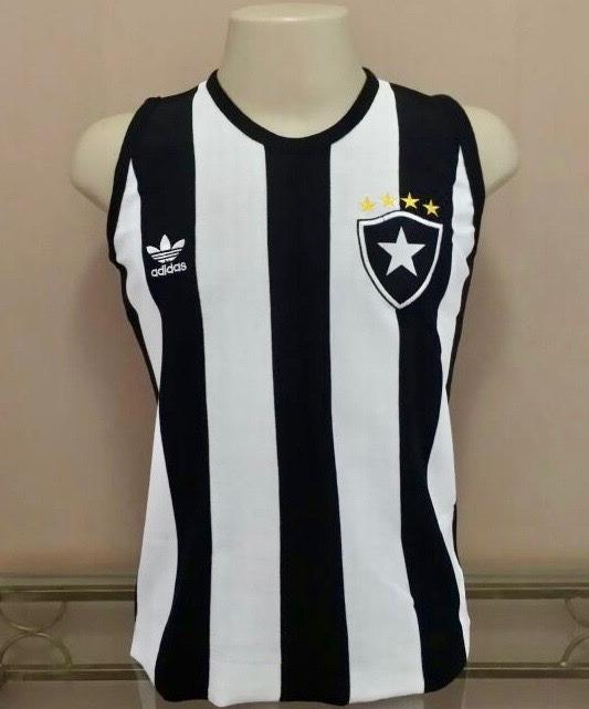 Camisa Retrô Botafogo Anos 80 Regata - Bordada - S A L D Ã O - R  78 ... 6a18baf3d18bc