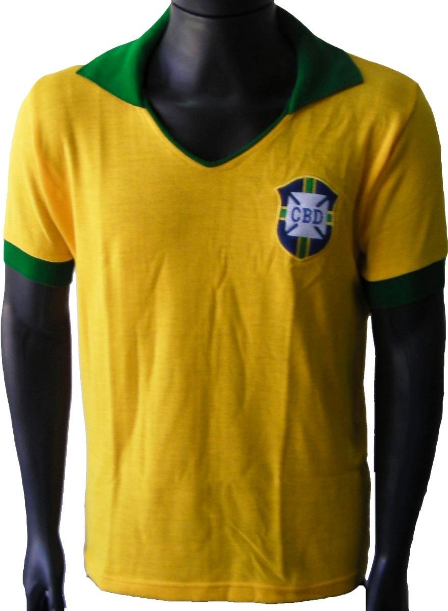 cb720dfdd camisa retrô brasil 1962 amarela. Carregando zoom.