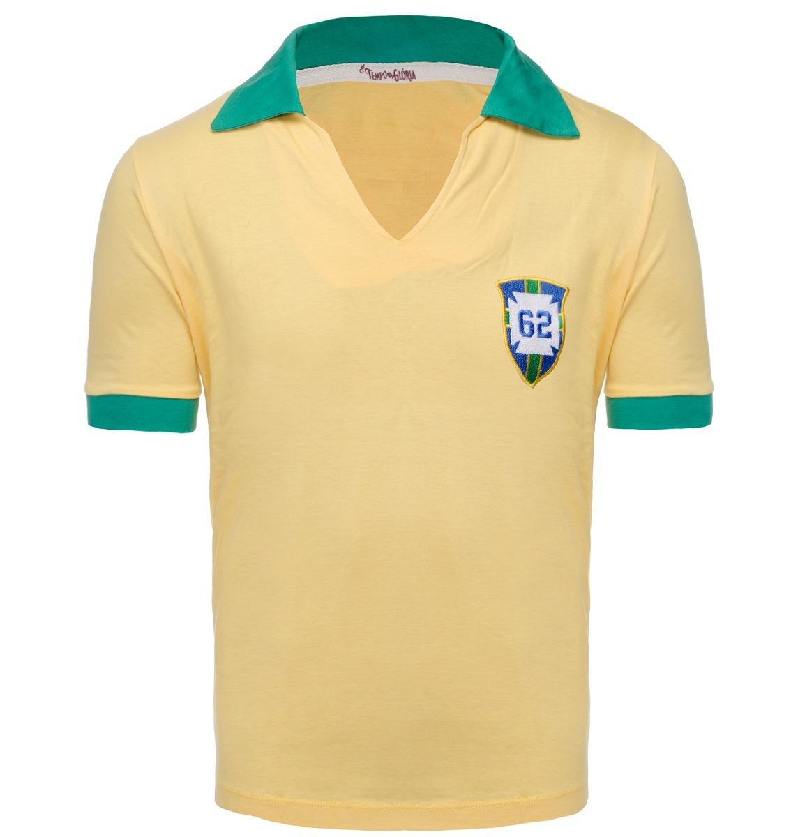 c0a2f162e camisa retrô - brasil 1962 - amarela. Carregando zoom.