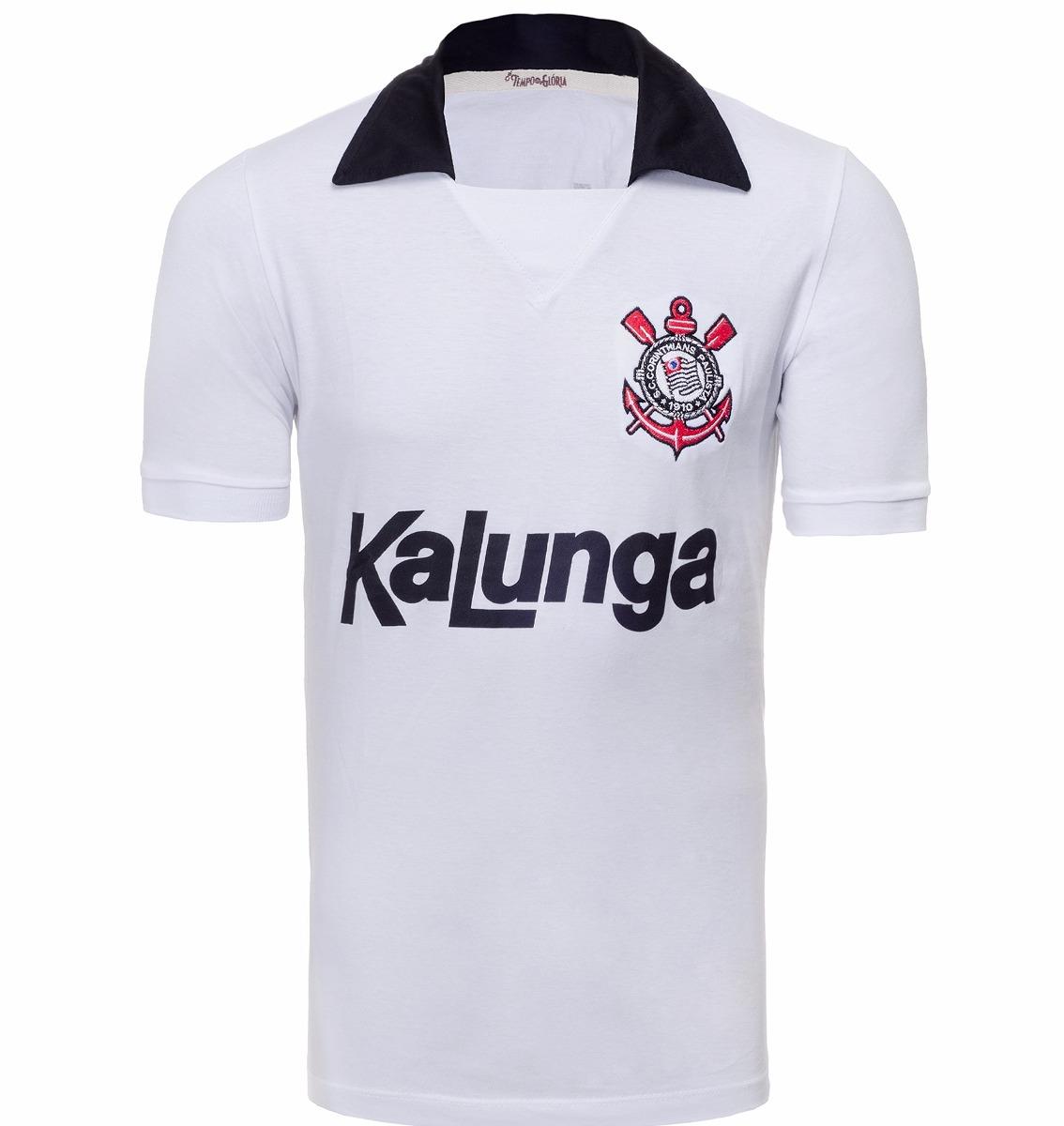 camisa retrô - corinthians kalunga sp - 1990. Carregando zoom. f70db4c37776a