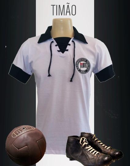 e4ef76e43b Camisa Retrô - Corinthians - Sp 1920 - R  74