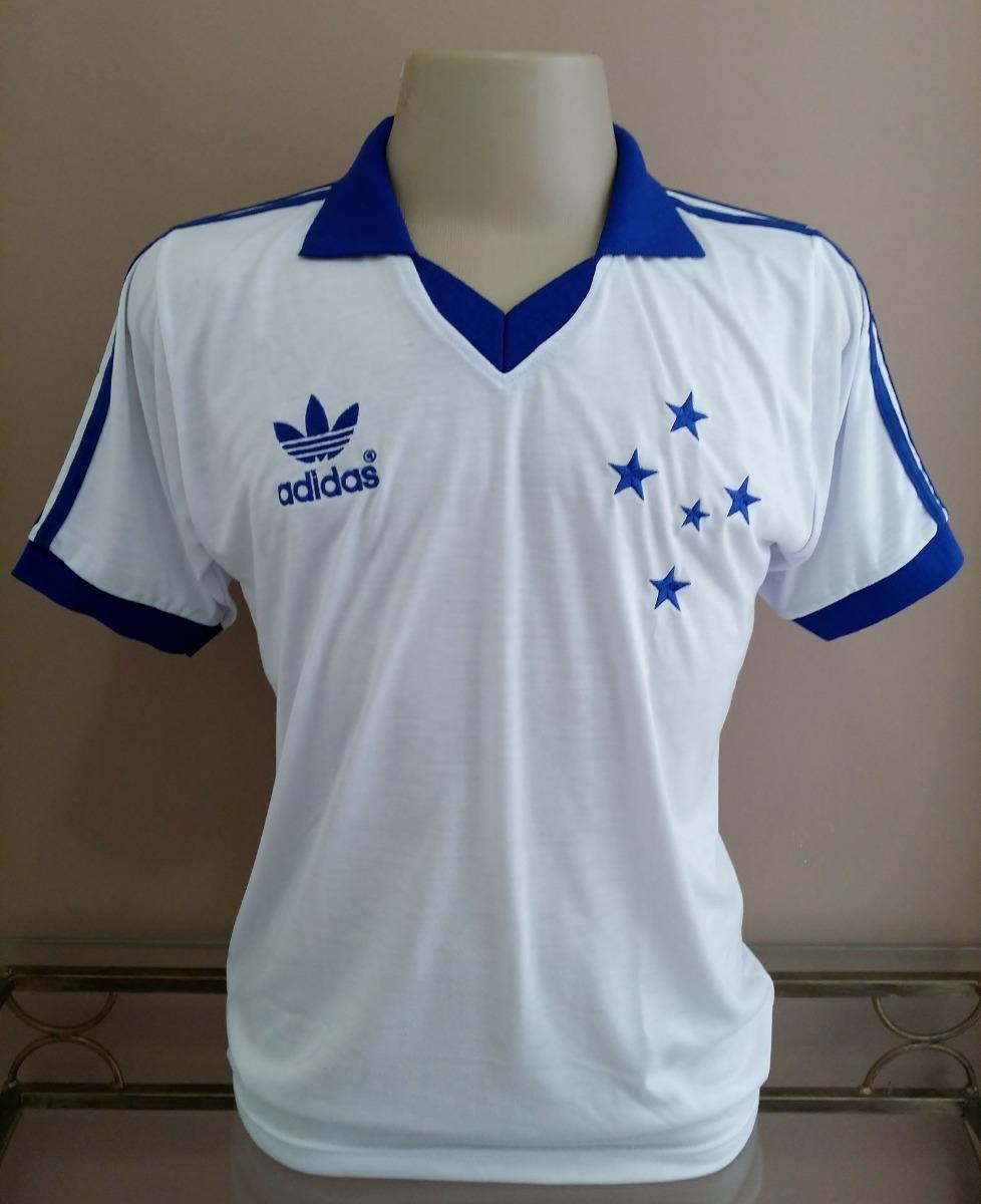 camisa retrô cruzeiro 1985 branca - gola polo - malha. Carregando zoom. 40fbcd5e01c88