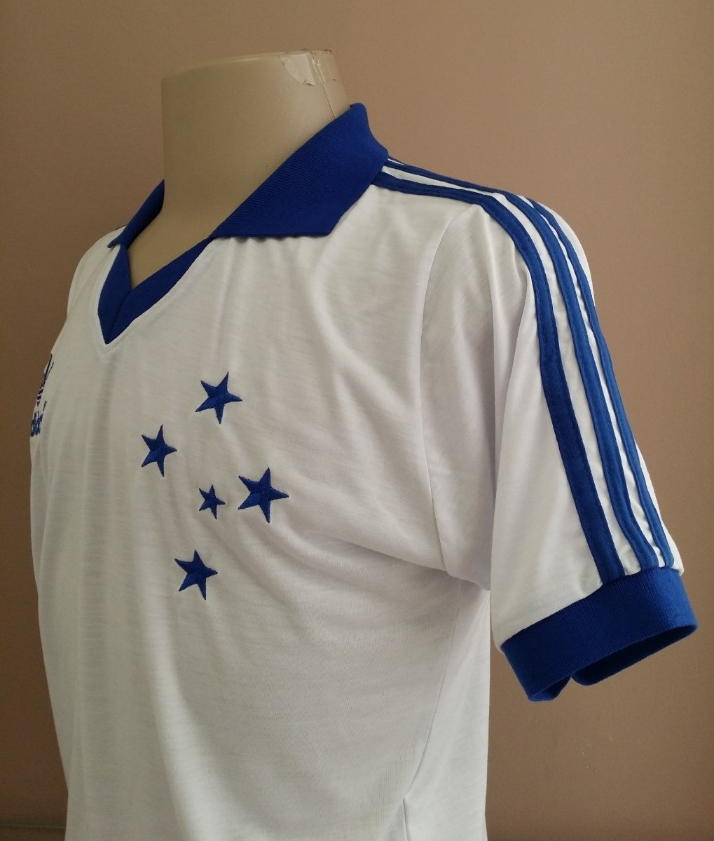 camisa retrô cruzeiro 1985 branca gola polo + nome. Carregando zoom. 3e18b86810efa