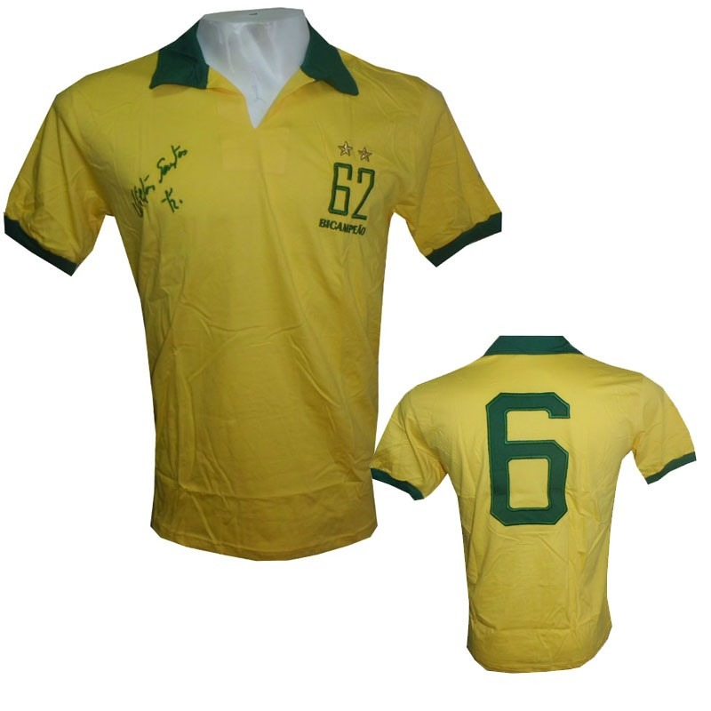 99b084f950 camisa retrô do brasil nilton santos bicampeão 62. Carregando zoom.