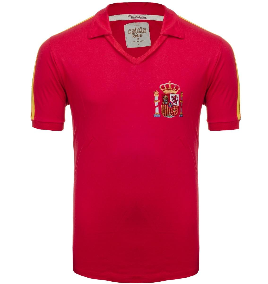 camisa retrô - espanha 1982 - vermelha. Carregando zoom. 4710ee8ca648b