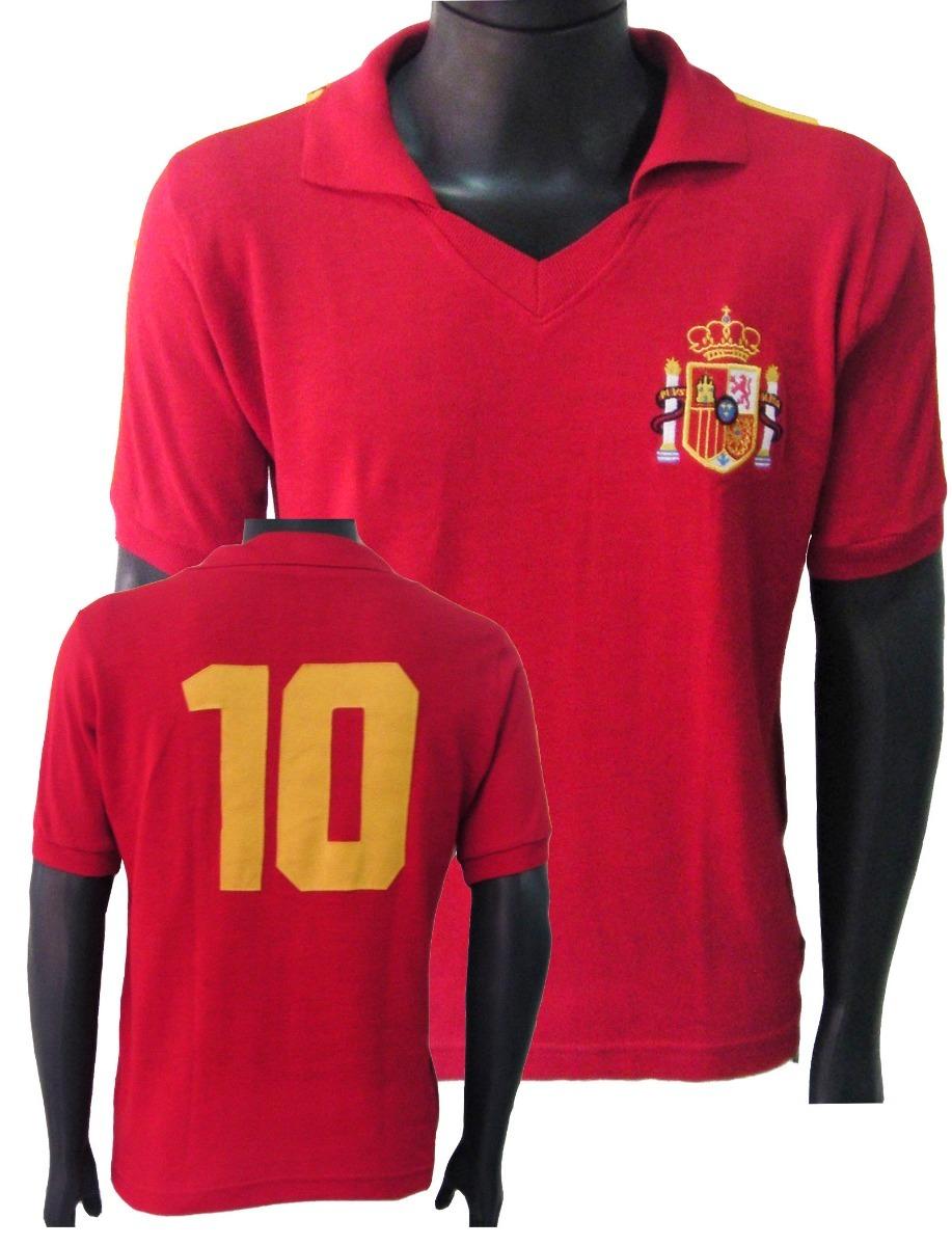 camisa retrô espanha 1986 seleção espanhola. Carregando zoom. 653435a3c8869